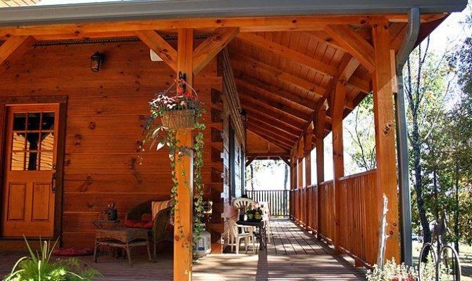 Log Home Porches