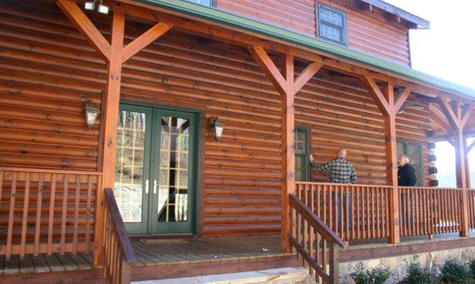 Log Home Windows Porches Increase Energy Efficiency Fun Times