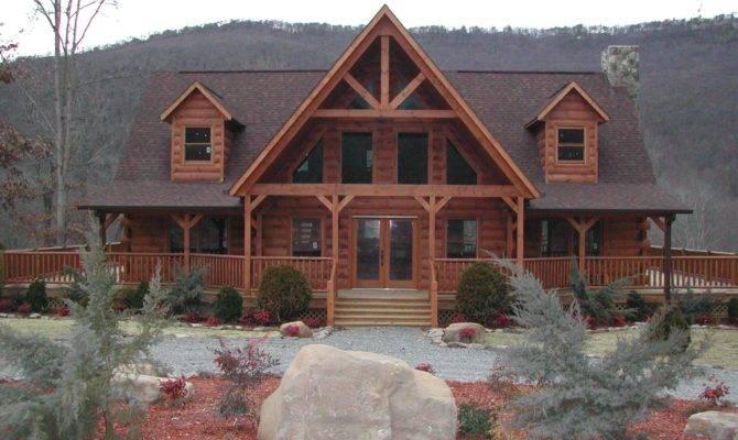 Log Home Wrap Around Porch Plans