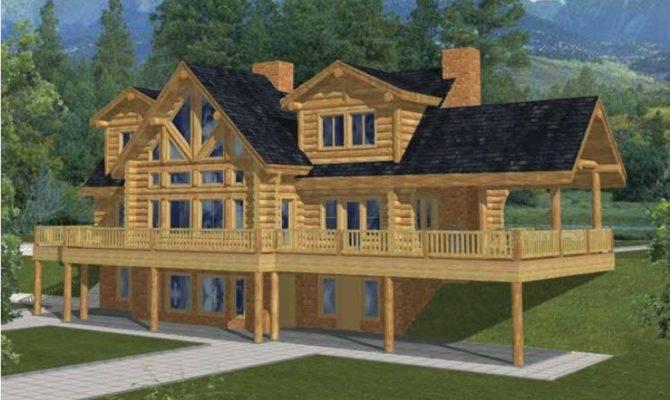 Log Houses House Plan Square Feet Bedrooms Dream