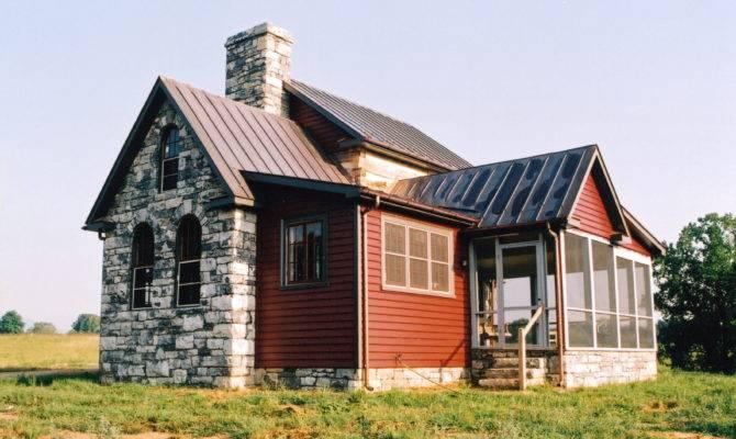 Log Stone Cabin Part Handmade Houses