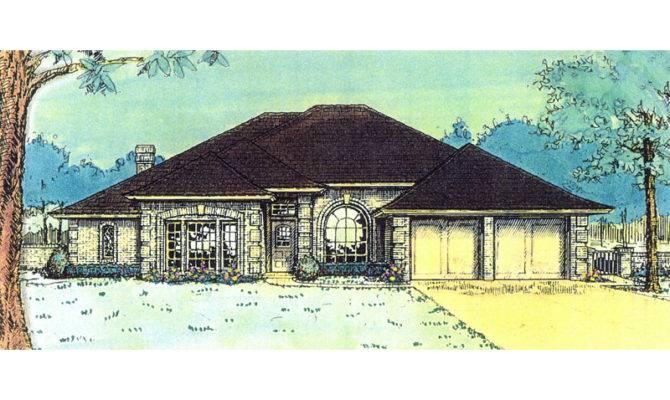 Lombardi European Ranch Home Plan House Plans More