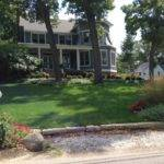 Long Beach Indiana Corner Lot Traditional Landscape