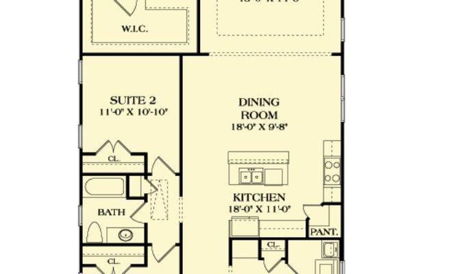 Long Narrow Craftsman House Plan
