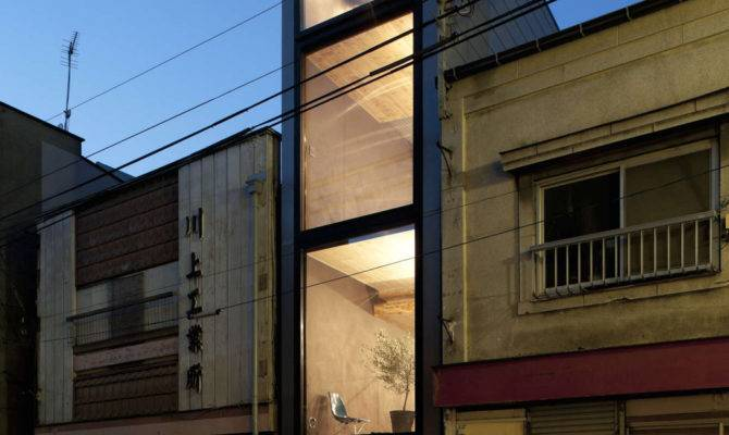 Long Narrow House Squeezed Between Two Buildings