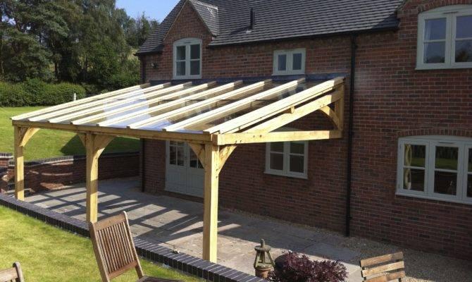 Long Oak Frame Veranda