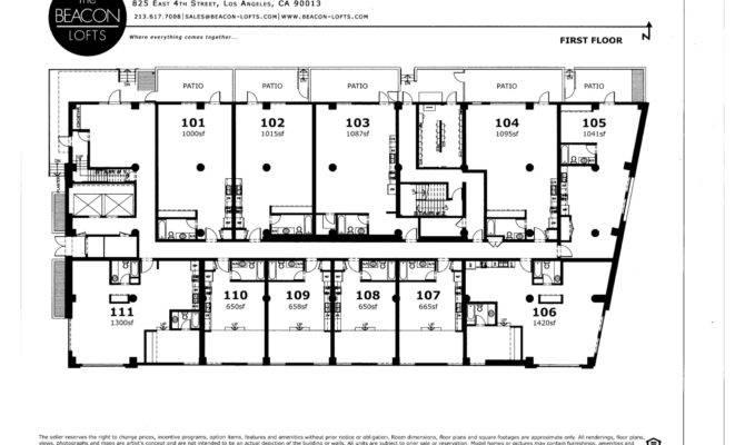 Los Angeles Real Estate Caroline Choi Beacon Lofts Floor Plans