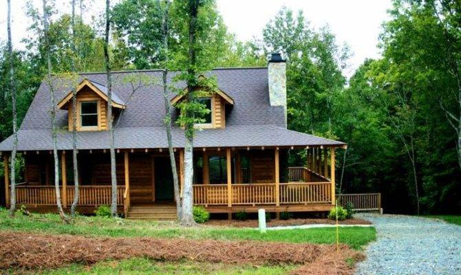 Love Wrap Around Porch Simple Charm Log Home