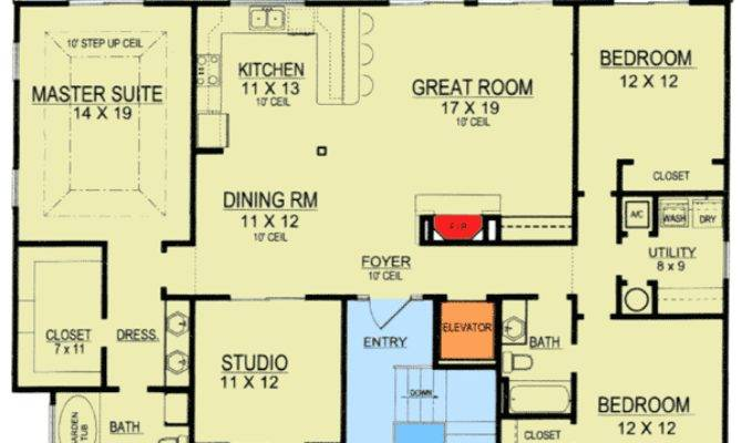 Lovely Elevated Home Plans Beach House Floor