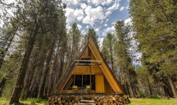 Lovely Frame Cabin Near Sierra National Forest Has Modern