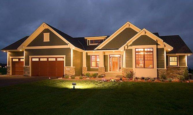 Lovely House Plans Walkout Basements Craftsman
