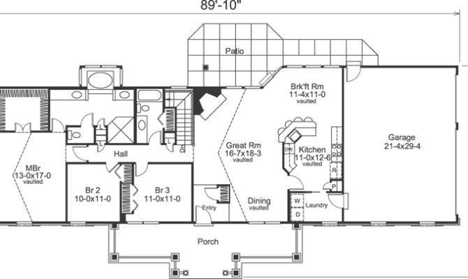 Lovely Ideas Open Floor Plan Ranch Plans Bedroom Bath