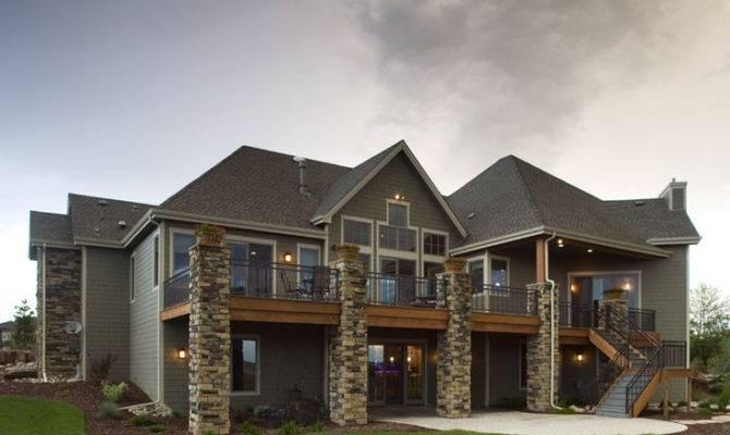 Lovely Lakefront House Plans Daylight Basement Plan