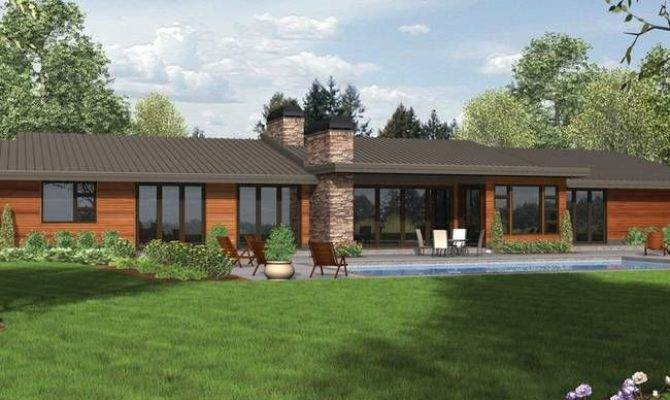 Lovely Modern Ranch Style House Plans