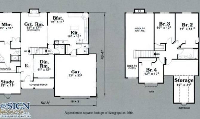 Lovely Story Bedroom House Floor Plans New Home