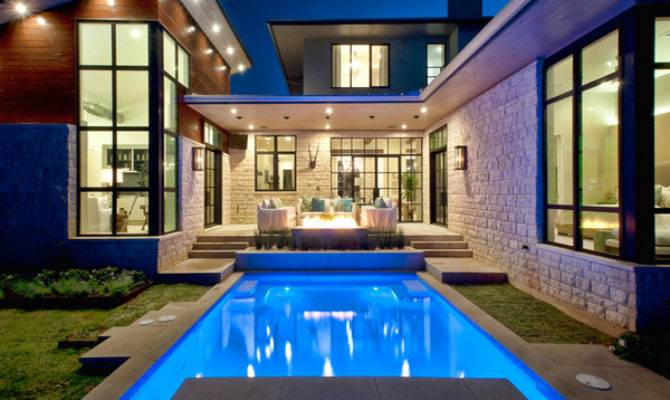 Lovely Swimming Pool House Designs Decoration