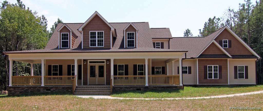 Low Country Farmhouse Plan Wrap Around Porch - House Plans ...