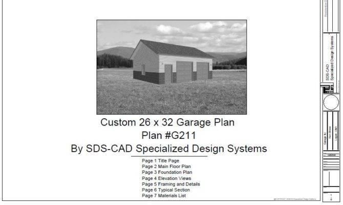 Low Price Plan Custom Garage