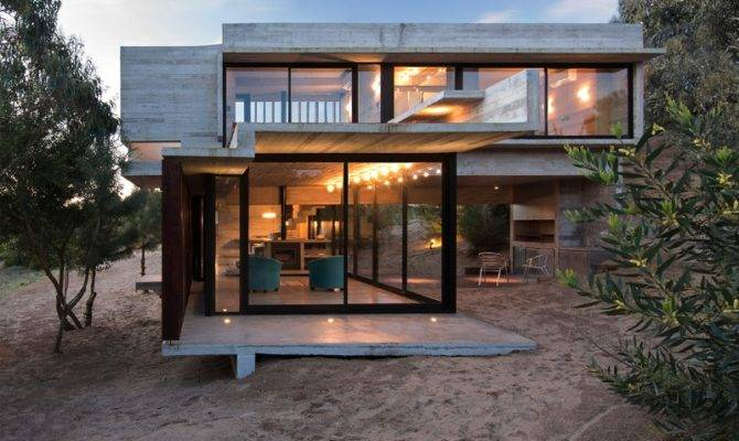 Luciano Kruk Designs Concrete Holiday Home Argentina