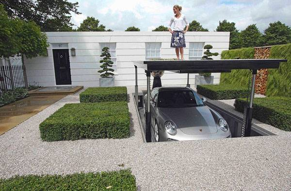 luxurious hydraulic underground garage parking freshome 92074 - 29+ Small House Design With Underground Parking PNG