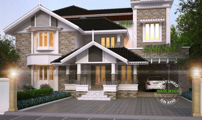 Luxurious Modern Mix Traditional Home Plan Kerala