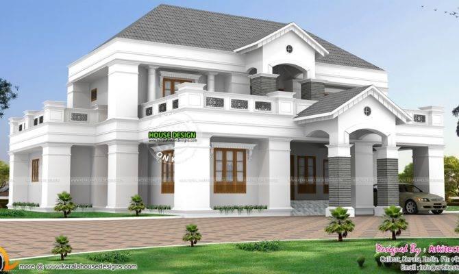 Luxurious Pillar Type Home Design Kerala