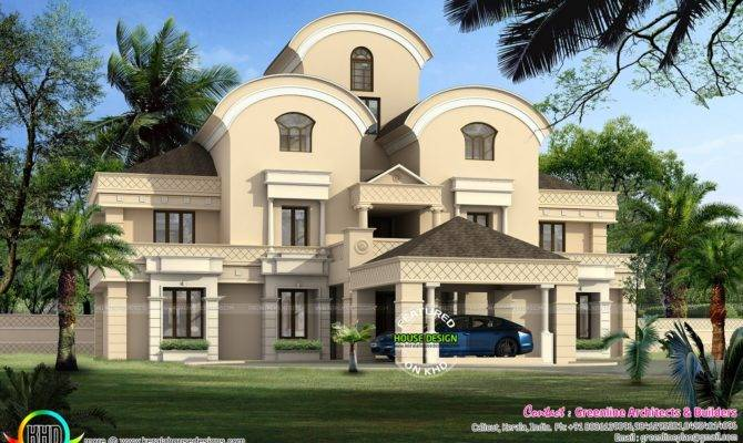Luxury Arabian Style Home Design Kerala