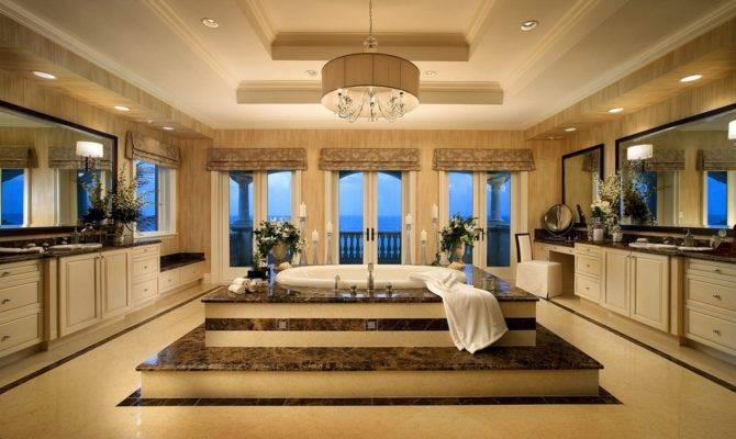 Luxury Bathroom Upscale Marble Platform Master Bath