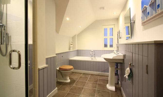 Luxury Beach House Bamburgh New England Style Bathroom