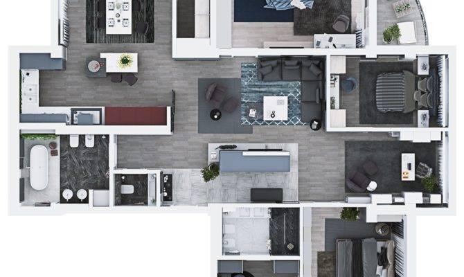 Luxury Bedroom Apartment Design Under Square Feet