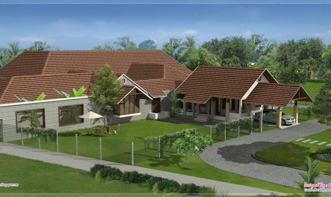 Luxury Bungalow Exterior Design Kerala Home