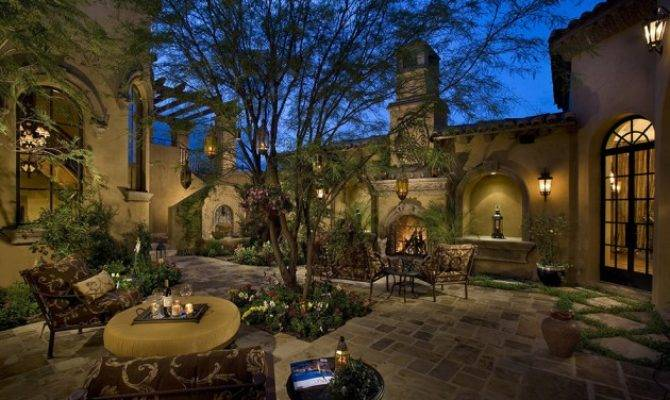 Luxury Classy Mediterranean Patio Designs