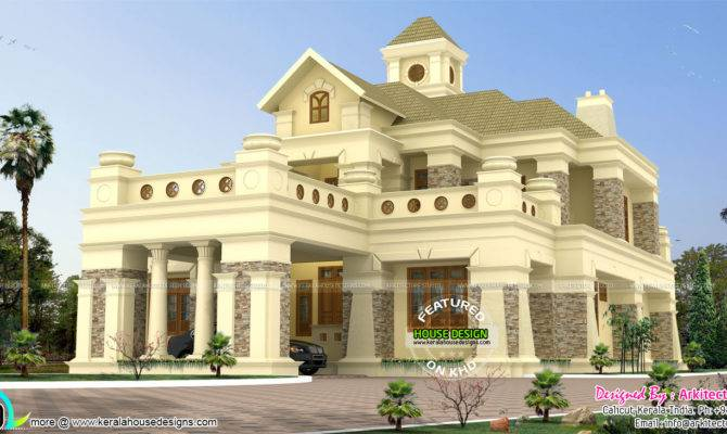 Luxury Colonial House Kerala Home Design