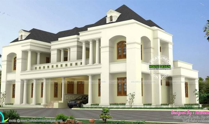 Luxury Colonial Style Indian Home Design Kerala