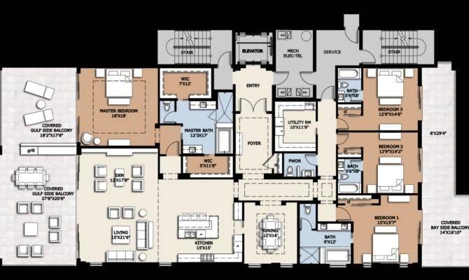 Luxury Condo Floor Plans Homes