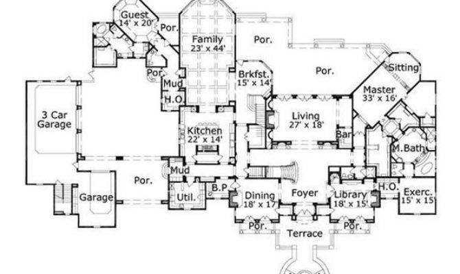 Luxury Estate Home Floor Plans Homes