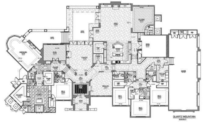 Luxury Estate Home Floor Plans Homes