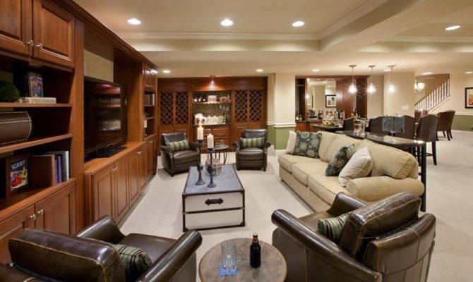 Luxury Finished Basement Designs