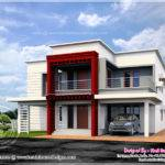 Luxury Flat Roof House Design Indian Plans