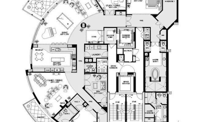 Luxury Floor Plans Naples Residences Penthouse
