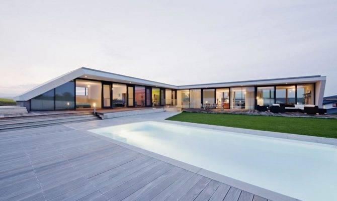 Luxury House Design Plan Wide Glass Window Vie Interior Home