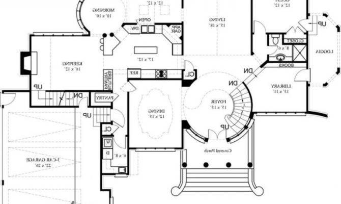 Luxury House Designs Floor Plans Castle