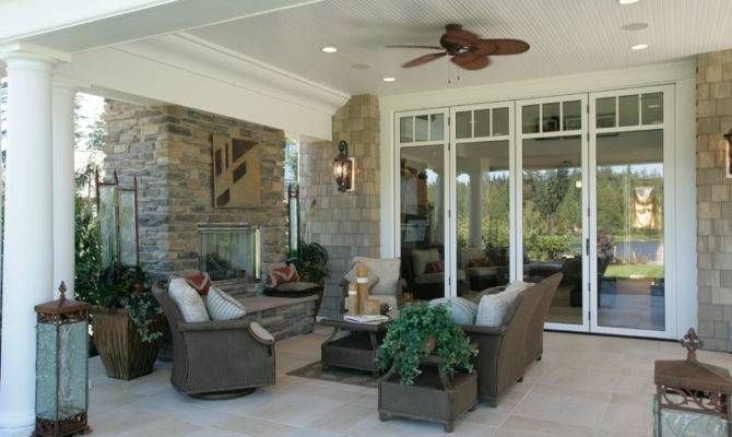 Luxury House Plan Rear Porch