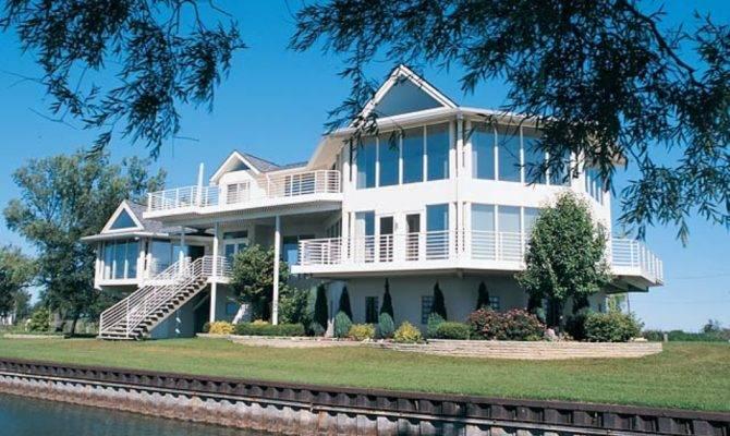 Luxury Lake House Plans Custom Home