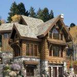 Luxury Log Stone Home Plans