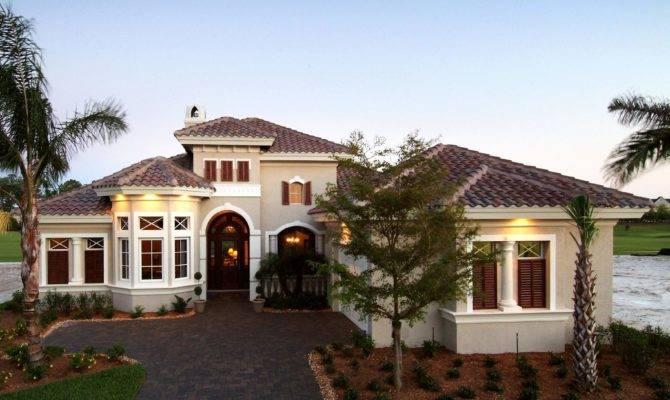 Luxury Mediterranean Home Plans Narrow Lot Plan