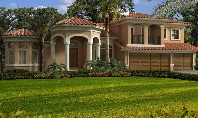 Luxury Mediterranean House Plan Architectural