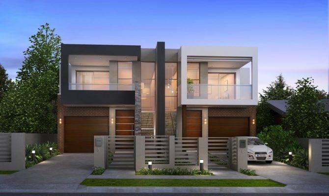 Luxury Modern Duplex Home Plans House Plan