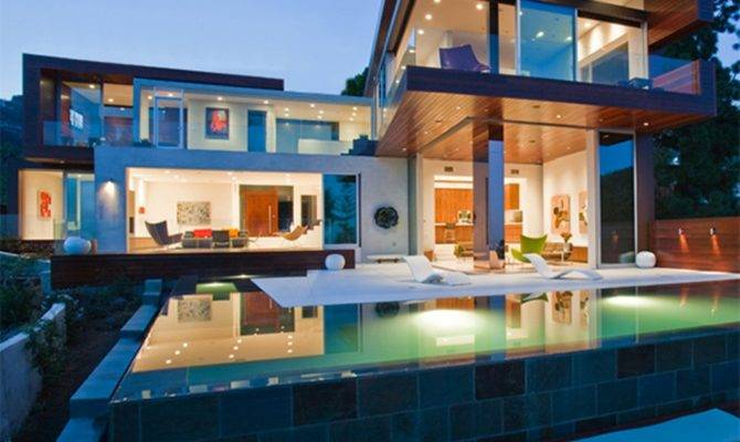 Luxury Modern House Plans Pool Plan