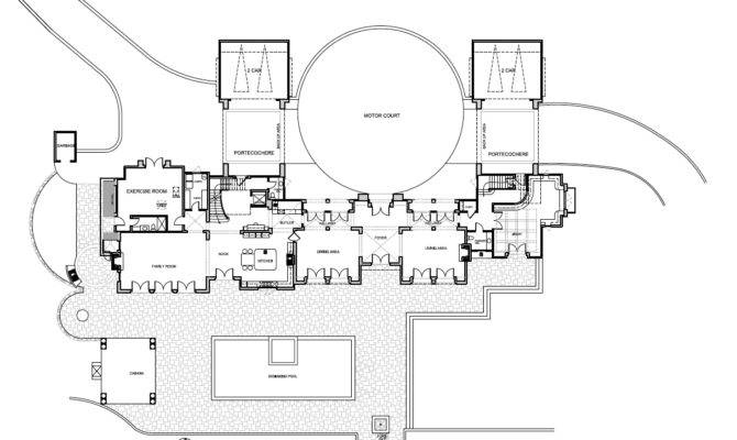Luxury Modern Mansion Floor Plans Plan First Story House